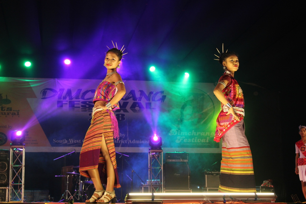 A Fashion show underway during the second day of Dimchrang Winter Festival zt Ampati on Dec 20.